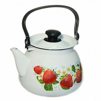 Чайник эмалированный цилиндрический 3 литра КМК