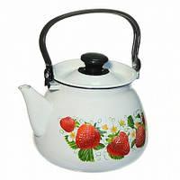 Чайник эмалированный цилиндрический 3 литра КМК, фото 1