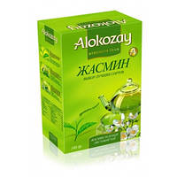 Чай Алокозай зелёный байховый с лепестками жасмина 100г