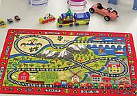 Коврик в детскую комнату дорога RAILWAY RED Confetti
