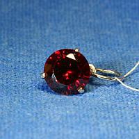 Серебряный кулон красным с фианитом 3455к, фото 1