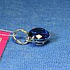 Серебряная подвеска с синим цирконом 3455с