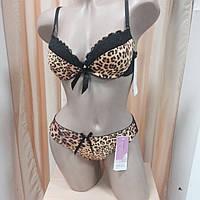 Комплект нижнего белья, леопардовый, фото 1