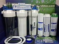 Фильтр под мойку Aquafilter 4-х ступенчатый с капиллярной мембраной и картриджами