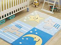 Коврик в детскую комнату 100х150 SLEEPY BLUE Confetti