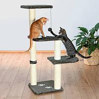 """*Игровой комплекс с когтеточилкой """"АЛТЕА"""" для кошек и котят, 117см, серый."""