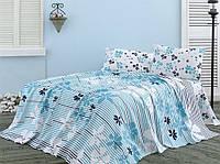 Летнее постельное белье Marie Claire Sea Side бирюзовое полуторного размера