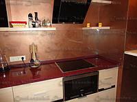 Стеклянный кухонный фартук прозрачный.Диамант , фото 1