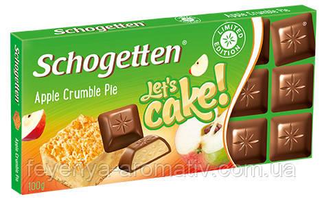 Шоколад Schogetten (Германия) 100, Apple Crumble Pie (яблочный пирог)