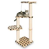 """*Игровой комплекс с когтеточилкой """"АЛТЕА"""" для кошек и котят, 117см, бежевый с лапами/ДТ"""