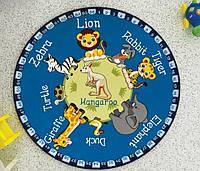 Коврик  в детскую комнату круглый Ø 133 см ANIMAL PLANET Confetti
