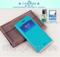 Чехол-книжка Mofi для телефона Xiaomi Mi3 голубой blue