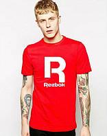 Мужская футболка красная с принтом рибок,Reebok