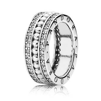 Серебряное кольцо «Всегда с Pandora» с кубическим цирконием