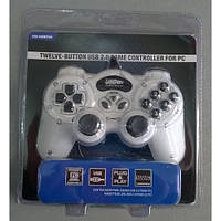 Игровой манипулятор (джойстик) USB 168 (Белый) с вибрацией