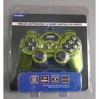Игровой манипулятор (джойстик) USB 168 (Зеленый) с вибрацией