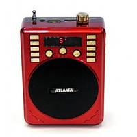 Портативная колонка ATLANFA AT-R31 с USB+SD+дисплей+громкоговоритель