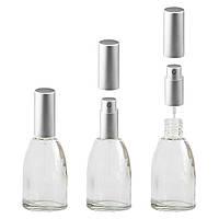 Флакон для парфюмерии «Канди» 15 мл с металлическим спреем (серебро)