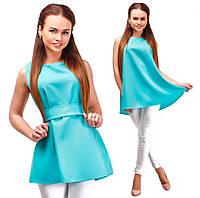Блузка свободна я поясом 19- 048