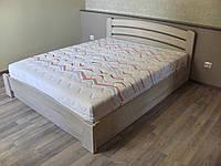 Ліжко дубове двоспальне з підйомним механізмом і фасад-ручкою, фото 1