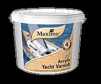 """Лак яхтный полиуретан-акриловый глянцевый ТМ """"Maxima"""" (бесцветный) 20 л"""