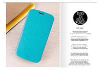 Чехол-книжка Mofi для телефона Lenovo A859 голубой blue