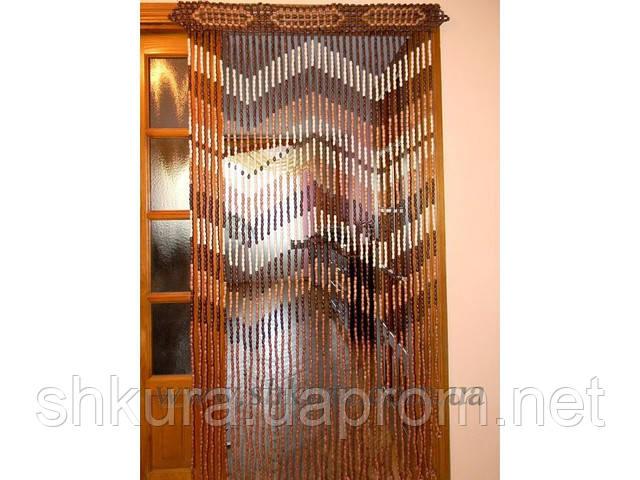 Шторы на дверь из деревянных бусин