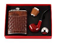 Подарочный набор с трубкой и флягой, элитная