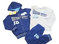 Трикотажный костюм-тройка для мальчиков, размеры 104, Crossfire, арт. CF-136