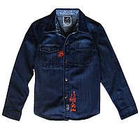 Джинсовая рубашка для мальчика; 134, 158 размер
