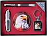 Подарочный набор Moongrass 4в1 -нож/пепельница/брелок/ручка №6279, набор для мужчин ,деловые подарки