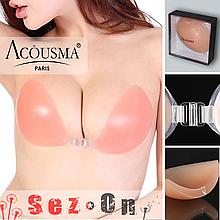 Силіконовий ліфчик Acousma з чашкою Д без бретелей для відкритого сукні (акоусма unbra un bra випускний)