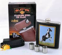 Подарочный набор фляга bz-18-2, качественный товары,сувениры для мужчин