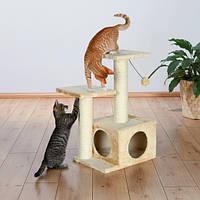 """Домик с когтеточилкой """"Валенсия"""" для кошек и котят, 71см, бежевый/коричневый"""