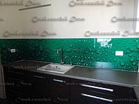 Стеклянный кухонный фартук купить в Луганске