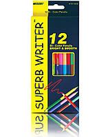 Карандаши цветные  MARCO  12 цветов Superb Writer двухсторонний