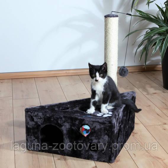 """*Домик с когтеточкой """"МУРСИЯ"""" для кошек и котят, 68см, серый"""