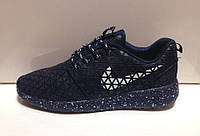 "Кроссовки Nike Roshe Run Metric QS ""Темно-синие"" (реальные фото)"