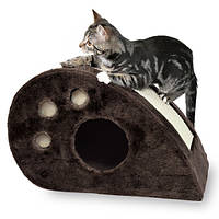 """*Домик с когтеточкой """"ТОПИ"""" для котят, 33см, коричневый"""
