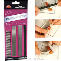 Набор ножей (3 шт+держатель) Viva Pardo(Германия) для различных техник в работе с пластикой, полимерной глиной