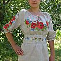Платье вышитое с корсетным поясом , фото 2