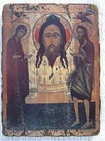 Икона православная Спас Нерукотворный с предстоящими