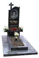 Надгробный Памятник с крестом и волной одинарный гранитный