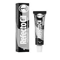 RefectoCil №1 Pure Black - краска для бровей и ресниц (глубокая черная), 15мл