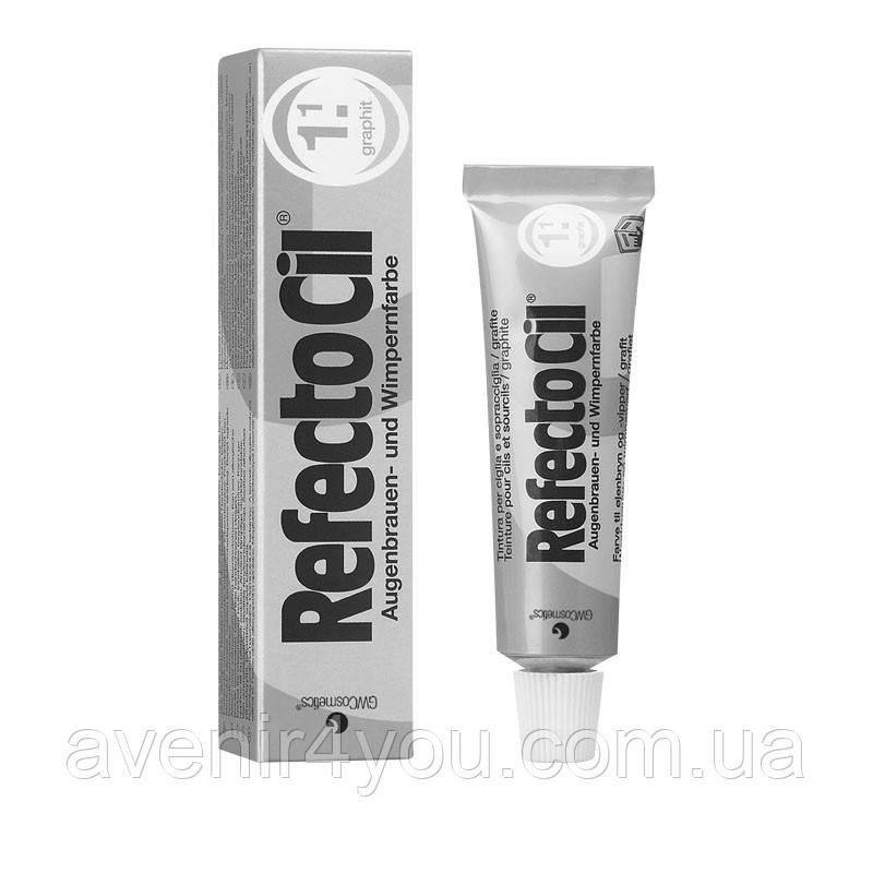 RefectoCil №1.1 Graphite - Краска для бровей и ресниц блонд - осветляющая паста, 15мл