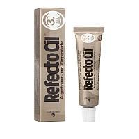 RefectoCil №3.1 Light Brown - Краска для бровей и ресниц блонд - осветляющая паста, 15мл