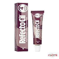 RefectoCil №4 Chestnut - Краска для бровей и ресниц блонд - осветляющая паста, 15мл