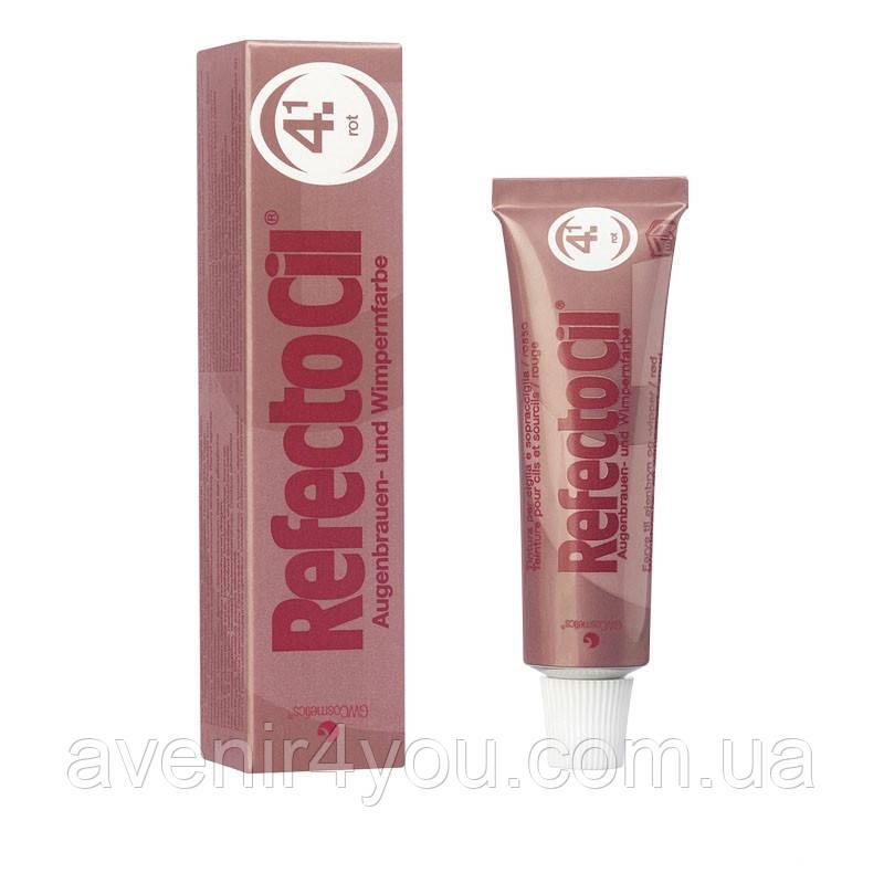 RefectoCil №4.1 Red - Краска для бровей и ресниц блонд - осветляющая паста, 15мл