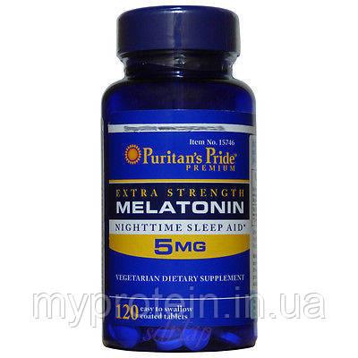 Puritan's Pride Мелатонин для сна Melatonin 5 mg (120 tab)