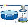 Бассейн каркасный круглый Intex 28202 (56999) Metal Frame Pool (305x76)